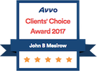 Avvo badge - Client's Choice Award 2017